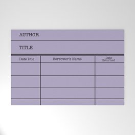 LiBRARY BOOK CARD (violet) Welcome Mat