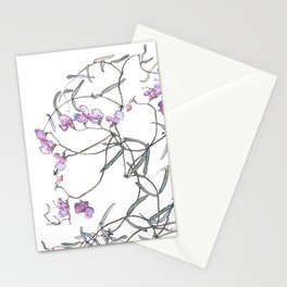 Sweet Pea medley Stationery Cards