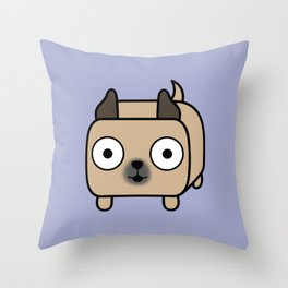 Pitbull Loaf - Fawn Pit Bull with Cropped Ears Throw Pillow