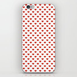 '80s Hearts - Red. Back to Basics iPhone Skin