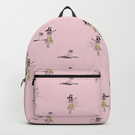 Tropical Vibes - Hula Dancer Vintage Backpack
