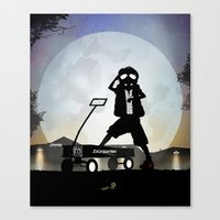 mcfly Canvas Prints featuring McFly Kid by Andy Fairhurst Art