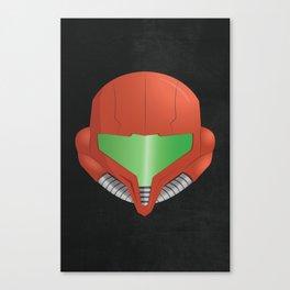 Samus Helmet - Super Metroid Canvas Print