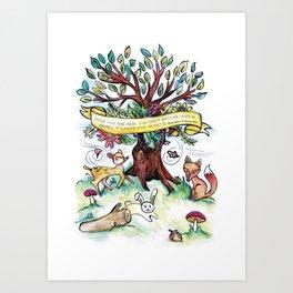 Woodlands Children's Room Poster Art Print