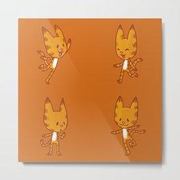 Stickimals - Cat Metal Print