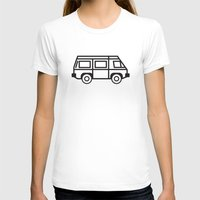 volkswagen T-shirts featuring Volkswagen Vanagon by Rory Harms