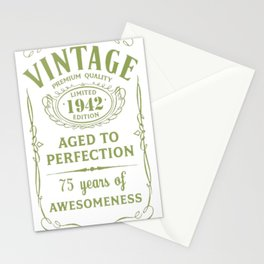 Green-Vintage-Limited-1942-Edition---75th-Birthday-Gift Stationery Cards