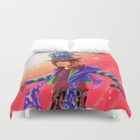 mad hatter Duvet Covers featuring The Mad Hatter by mishybelle