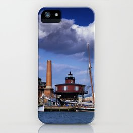 Seven Foot Knoll Lighthouse in Baltimore Harbor iPhone Case