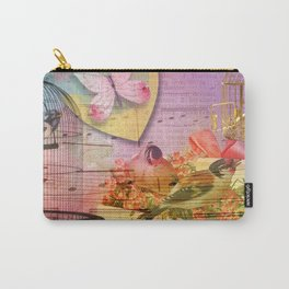 Beautiful Birds & Cages Colorful & Vintage Carry-All Pouch