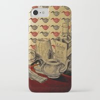 whiskey iPhone & iPod Cases featuring Tea & Whiskey by Ela Caglar
