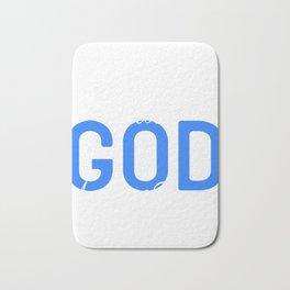 "Faith Tee For A Faithful You ""I Am Proof That God Answers Prayers"" T-shirt Design Jesus Church Amen Bath Mat"