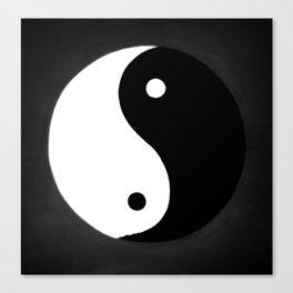 Yin and Yang BW Canvas Print