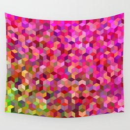 Girly cube structure Wall Tapestry