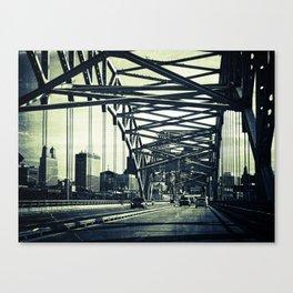 Broadway Bridge, Kansas City Missouri, Urban Grunge Canvas Print