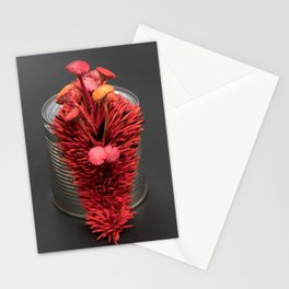 I Can : Passion, Red Mushrooms on a Tin Can | Surrealistic Sculpture by Stephanie Kilgast Stationery Cards