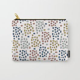 Rectangle Square Doodle Vector Pattern Seamless Primary Carry-All Pouch