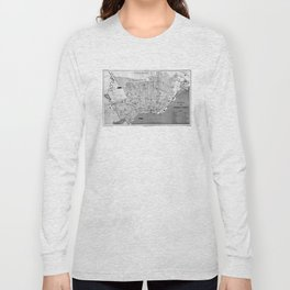 Vintage Map of Buenos Aires Argentina (1888) Long Sleeve T-shirt