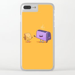 Best friends (Bread and toaster. Character set.) Clear iPhone Case