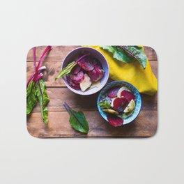 Beetroot and Potato salad Bath Mat