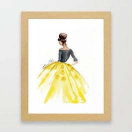 Sunny Spring Yellow Skirt Fashion Illustration Framed Art Print