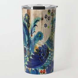 Russian Folk Art on Wood 02 Travel Mug