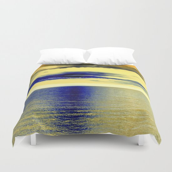 Sunset at Sea 01 Duvet Cover