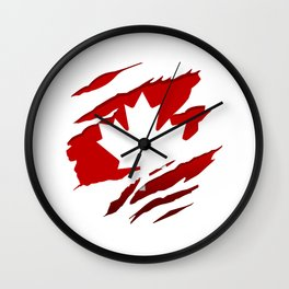 Canadian Red Flag Pride Wall Clock