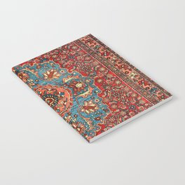 Bidjar Antique Kurdish Northwest Persian Rug Print Notebook
