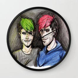 jack y mark youtubers Wall Clock