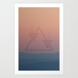 Horizon Series (1 of 3) Art Print