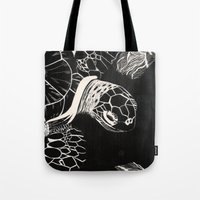 turtle Tote Bags featuring Turtle by Wellydog