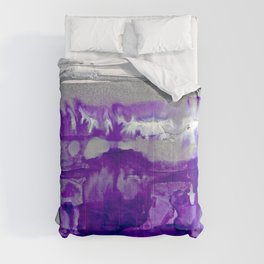 Winter in Purple and Silver Comforters