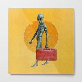 Aliens Work Too Metal Print