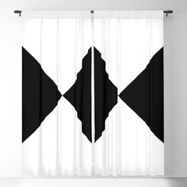 Black & White Triangles Blackout Curtain