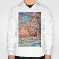 ship Hoodies featuring Ship by Kali Koltz