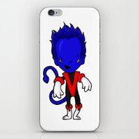 nightcrawler iPhone & iPod Skins featuring NIGHTCRAWLER by Space Bat designs