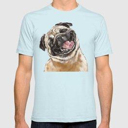 Happy Laughing Pug T-shirt