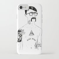 stanley kubrick iPhone & iPod Cases featuring Stanley by David Penela
