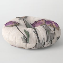 four dried roses Floor Pillow