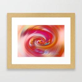 """""""Desert Sun #2 ~ Twirl"""" Painting Framed Art Print"""