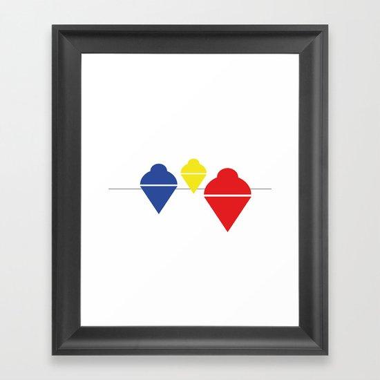 Whirlgigs Framed Art Print