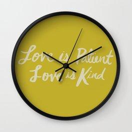 Love is Patient Love is Kind x Mustard Wall Clock
