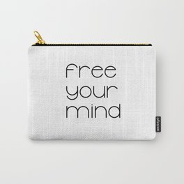 Free Your Mind (Black) T-Shirt Carry-All Pouch