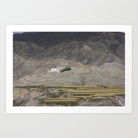 Home in Lo Manthang Art Print