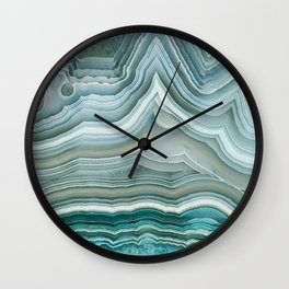 Agate Crystal Blue Wall Clock