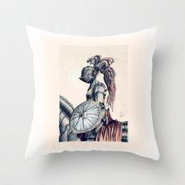Iron Knight Throw Pillow