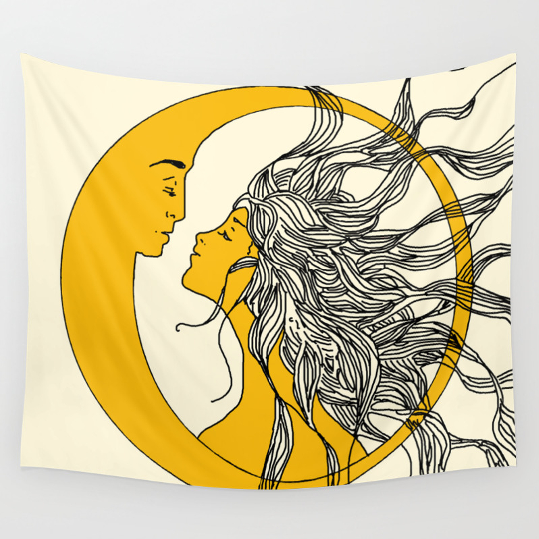 Comfortable Sun Moon Wall Art Pictures Inspiration - The Wall Art ...