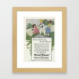 1920 Advert Framed Art Print