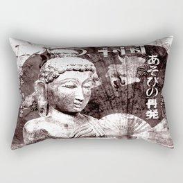 Buddha mit Fächer Rectangular Pillow